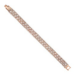 Jon Richard - Rose gold diamante crystal chain bracelet