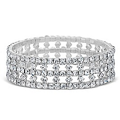 Jon Richard - Diamante crystal grid effect stretch bracelet