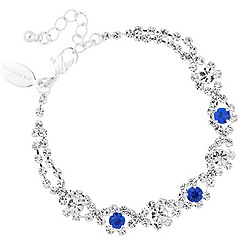 Jon Richard - Diamante crystal and blue navette bracelet
