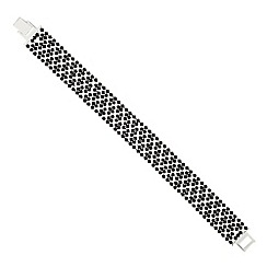 Jon Richard - Jet diamante crystal bracelet