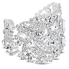 Alan Hannah Devoted - Online exclusive designer mixed crystal stone cuff