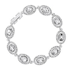 Jon Richard - Oval crystal surround link bracelet