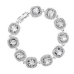 Alan Hannah Devoted - Designer Clara square surround link bracelet