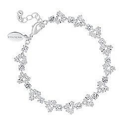 Alan Hannah Devoted - Designer cubic zirconia cluster link bracelet