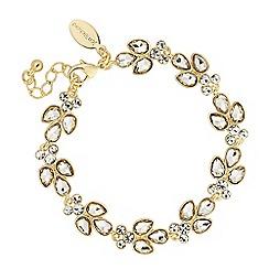 Jon Richard - Crystal cluster gold link bracelet