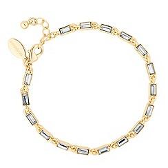 Jon Richard - Baguette crystal gold link bracelet