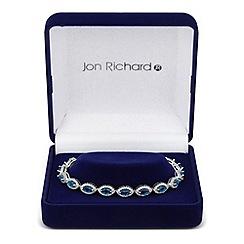 Jon Richard - Blue cubic zirconia navette link bracelet