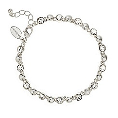 Jon Richard - Round crystal and polished silver ball bracelet
