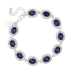 Jon Richard - Blue oval crystal surround link bracelet
