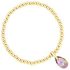 Jon Richard - Paradise shine crystal teardrop stretch bracelet MADE WITH SWAROVSKI ELEMENTS