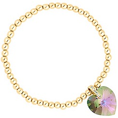 Jon Richard - Paradise shine crystal heart stretch bracelet MADE WITH SWAROVSKI ELEMENTS