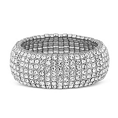 Jon Richard - Statement crystal stick stretch bracelet