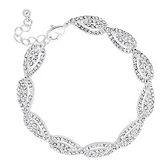 Jon Richard - Crystal embellished silver teardrop bracelet