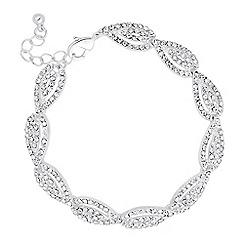 Jon Richard - Crystal embellished silver teardrop bracelet
