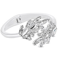 Jon Richard - Navette crystal cross over bangle