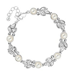 Alan Hannah Devoted - Designer pearl and crystal mixed cluster bracelet