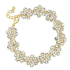 Jon Richard - Gold crystal cluster bubble bracelet