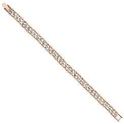 Jon Richard - Diamante crystal and rose gold bead surround bracelet