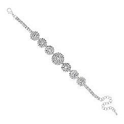 Jon Richard - Diamante embellished circular link bracelet