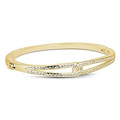 Jon Richard - Cubic zirconia embellished gold interlocked bangle