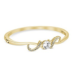 Jon Richard - Cubic zirconia embellished gold swirl bangle