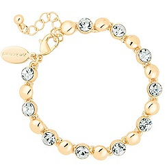 Jon Richard - Round crystal and gold ball chain bracelet