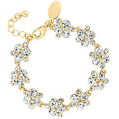 Alan Hannah Devoted - Designer gold crystal bubble link bracelet
