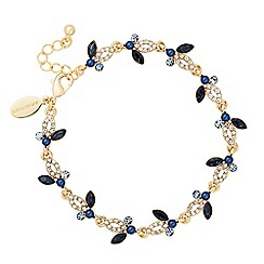 Jon Richard - Crystal navette blue cluster link bracelet