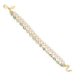 Jon Richard - Pearl and crystal double row bracelet
