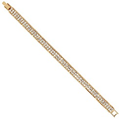 Jon Richard - Gold bead and diamante double row bracelet