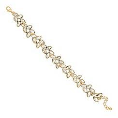 Jon Richard - Gold navette cluster link bracelet