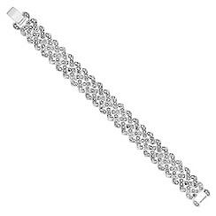 Jon Richard - Silver crystal embellished link bracelet