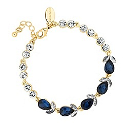 Jon Richard - Crystal navette blue teardrop bracelet