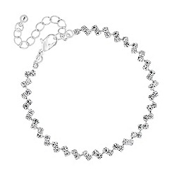 Jon Richard - Diamante crystal double row bracelet