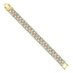 Jon Richard - Diamante crystal gold clover bracelet