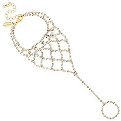 Jon Richard - Diamante crystal gold hand chain