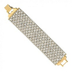 Jon Richard - Statement gold diamante crystal wide shorter bracelet