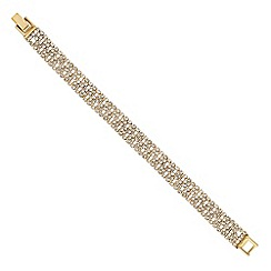 Jon Richard - Diamante crystal gold clover shorter bracelet