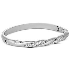 Jon Richard - Polished silver crystal twist bangle