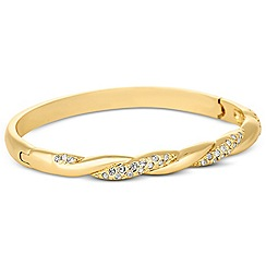 Jon Richard - Polished gold crystal twist bangle