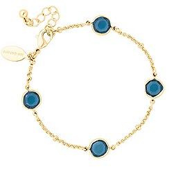 Jon Richard - Montana blue crystal link bracelet