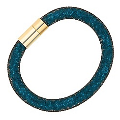 Jon Richard - Blue crystal encased mesh magnetic bracelet