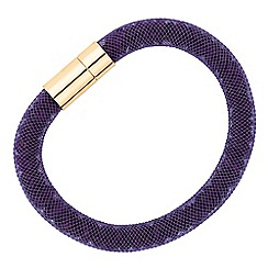 Jon Richard - Purple crystal encased mesh magnetic bracelet