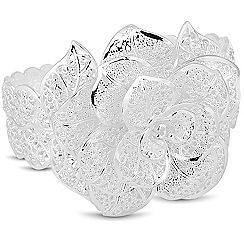 Jon Richard - Silver filigree flower cuff