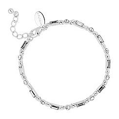 Alan Hannah Devoted - Designer baguette stone link bracelet