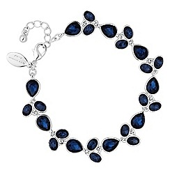 Jon Richard - Blue crystal flower bracelet