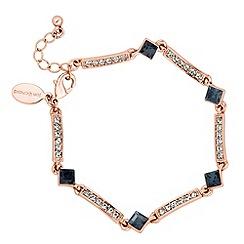 Jon Richard - Grey crystal and rose gold stick link bracelet