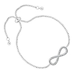 Jon Richard - Cubic zirconia encased infinity friendship bracelet