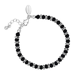 Jon Richard - Jet bead and crystal rondel bracelet