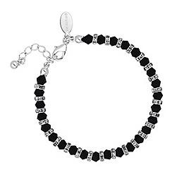 Jon Richard - Jet bead and crystal rondel bracelet